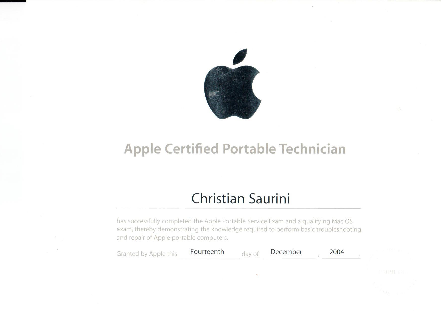 Certificazioni Macwin2005